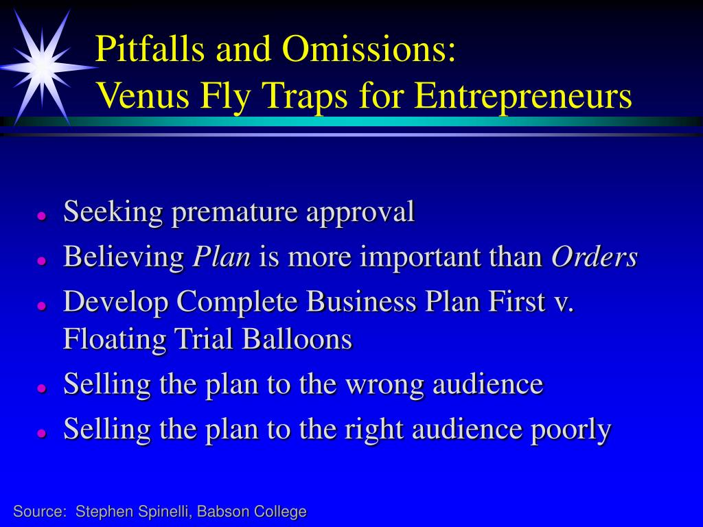 Pitfalls and Omissions: