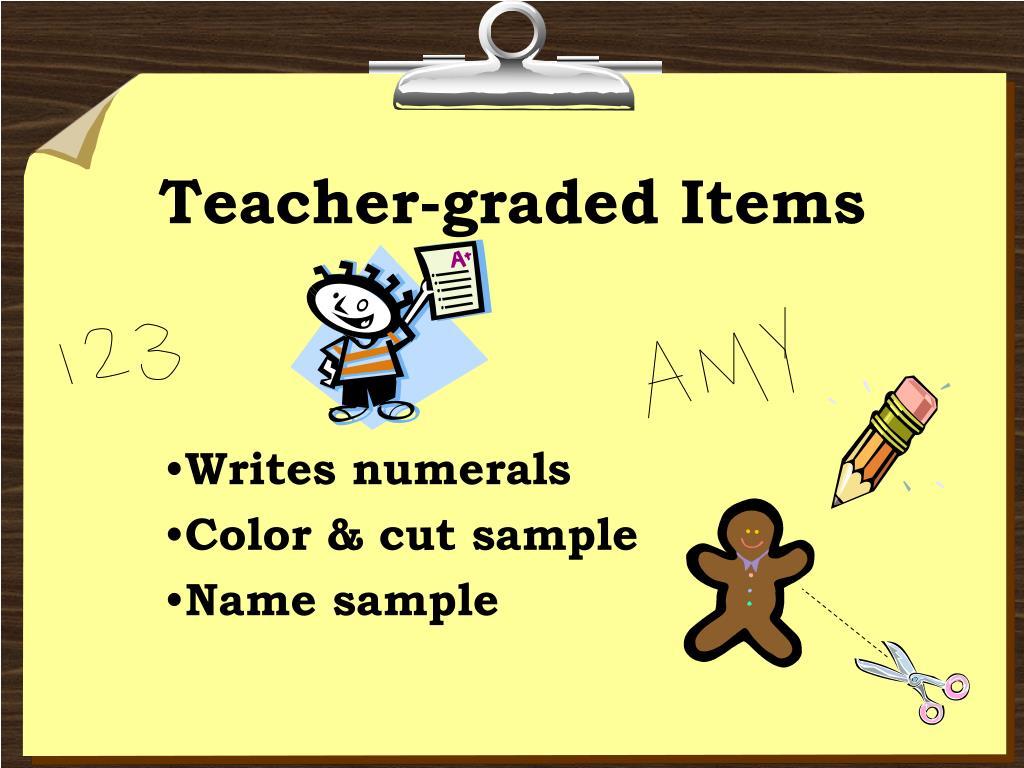 Teacher-graded Items