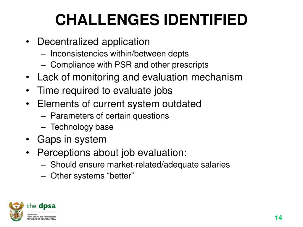 CHALLENGES IDENTIFIED