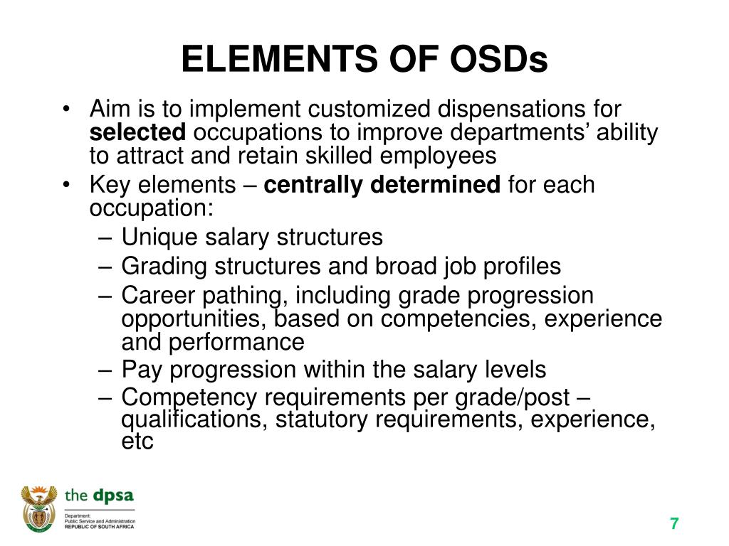 ELEMENTS OF OSDs
