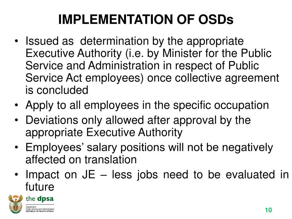 IMPLEMENTATION OF OSDs