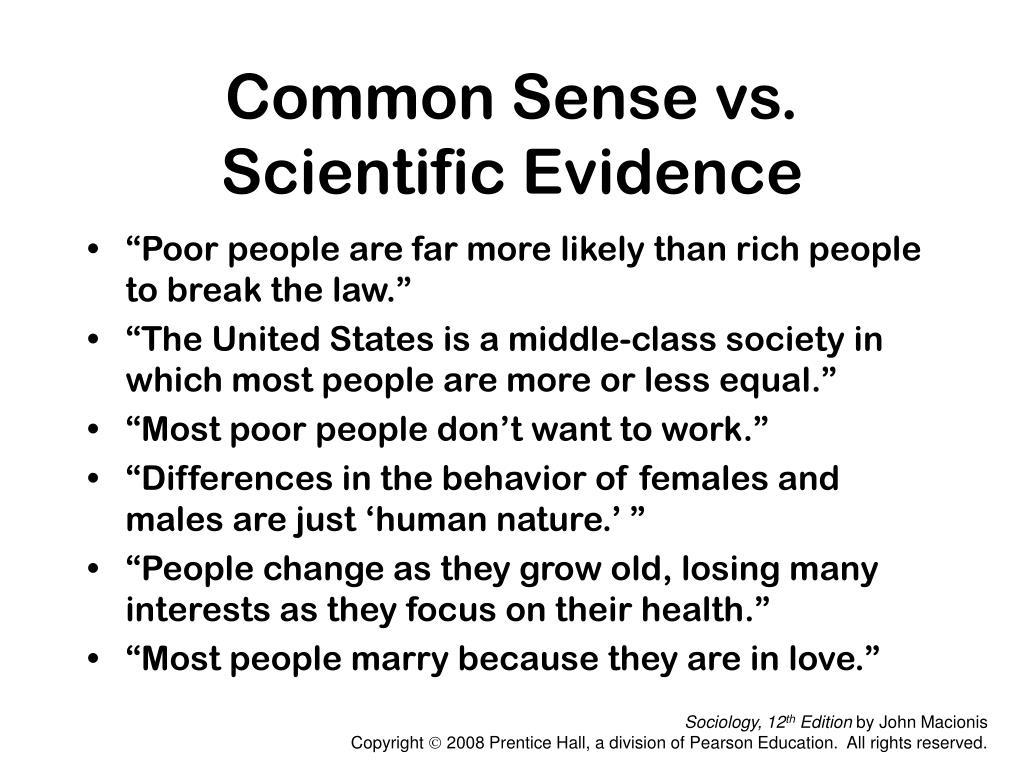 Common Sense vs.