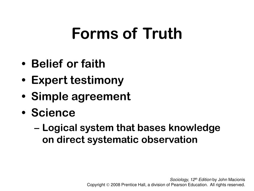 Forms of Truth