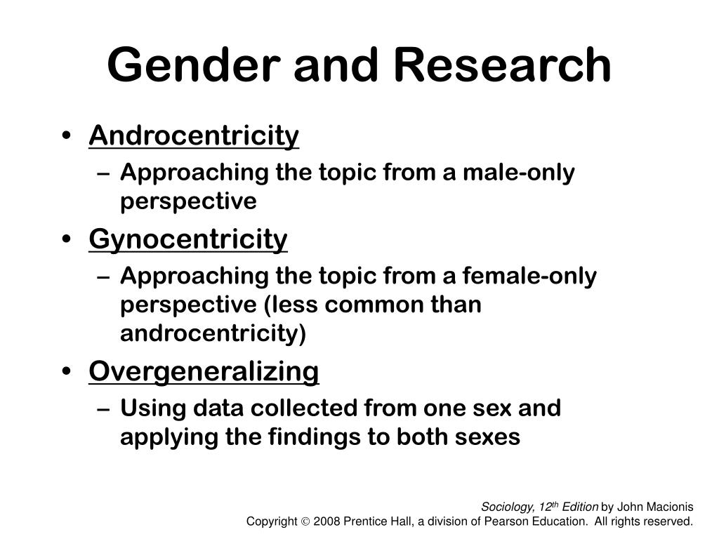 Gender and Research