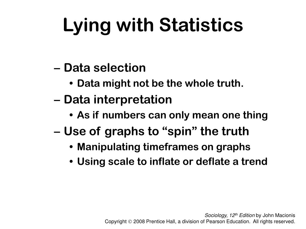 Lying with Statistics