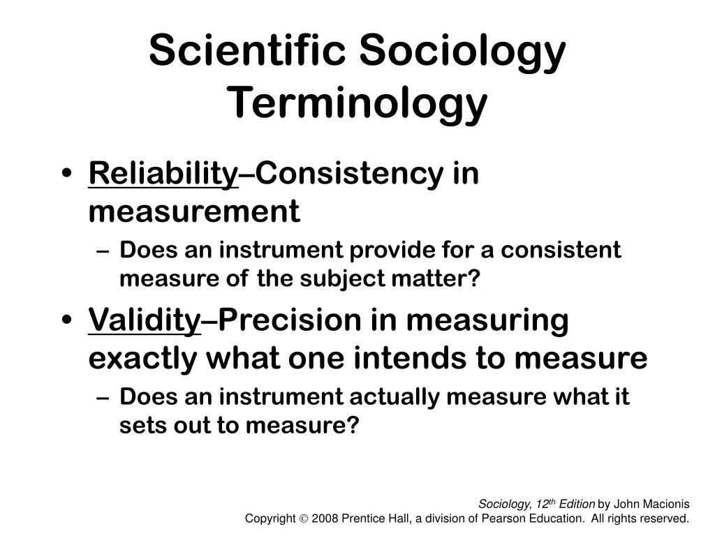 Scientific Sociology Terminology