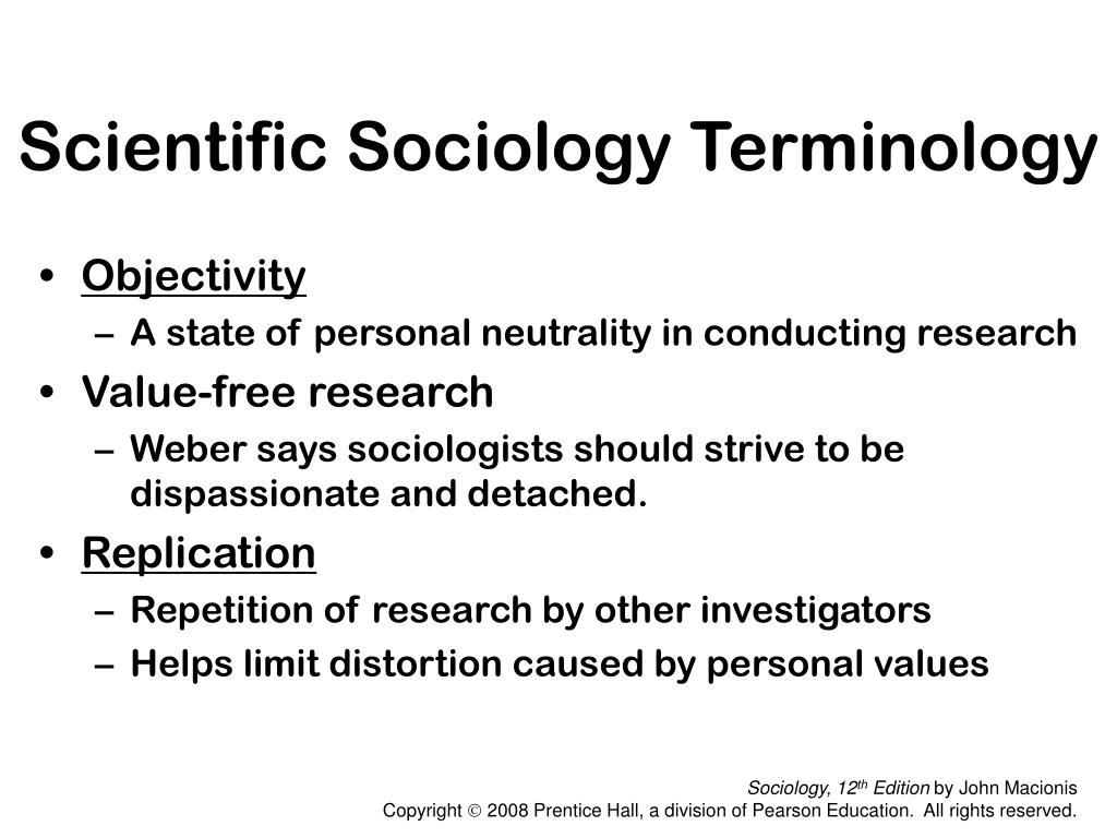 a discussion on value neutrality of sociology Suggestions are discussed to resolve this methodological conflict key words:  social science, value-neutrality, criticism, methodological principles,  incompatibility  sociology, theory of education, economics, and in many of the  humanities.