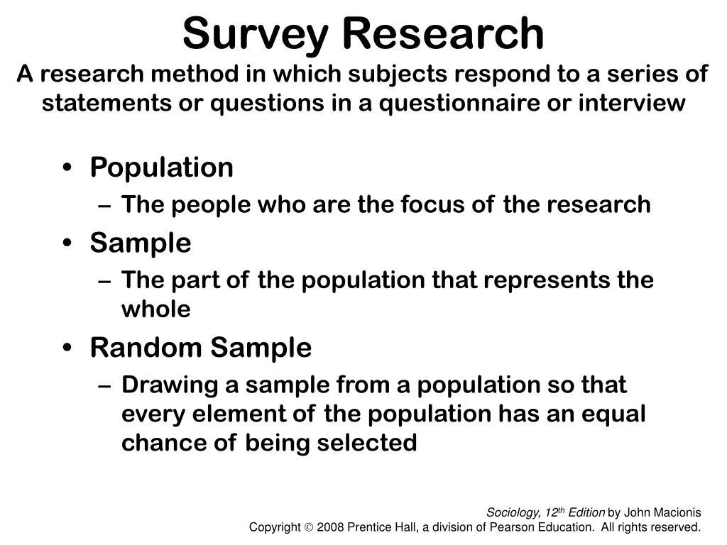 Survey Research