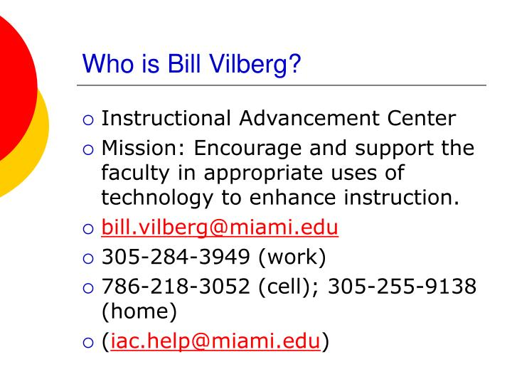 Who is bill vilberg