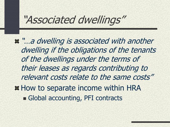 """Associated dwellings"""