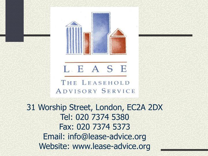31 Worship Street, London, EC2A 2DX
