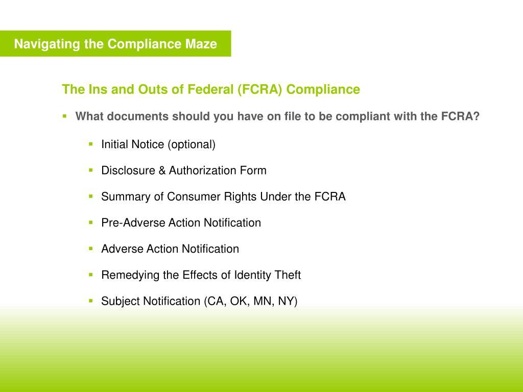 Navigating the Compliance Maze