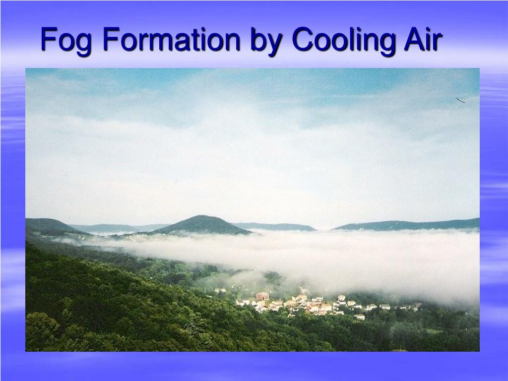 Fog Formation by Cooling Air