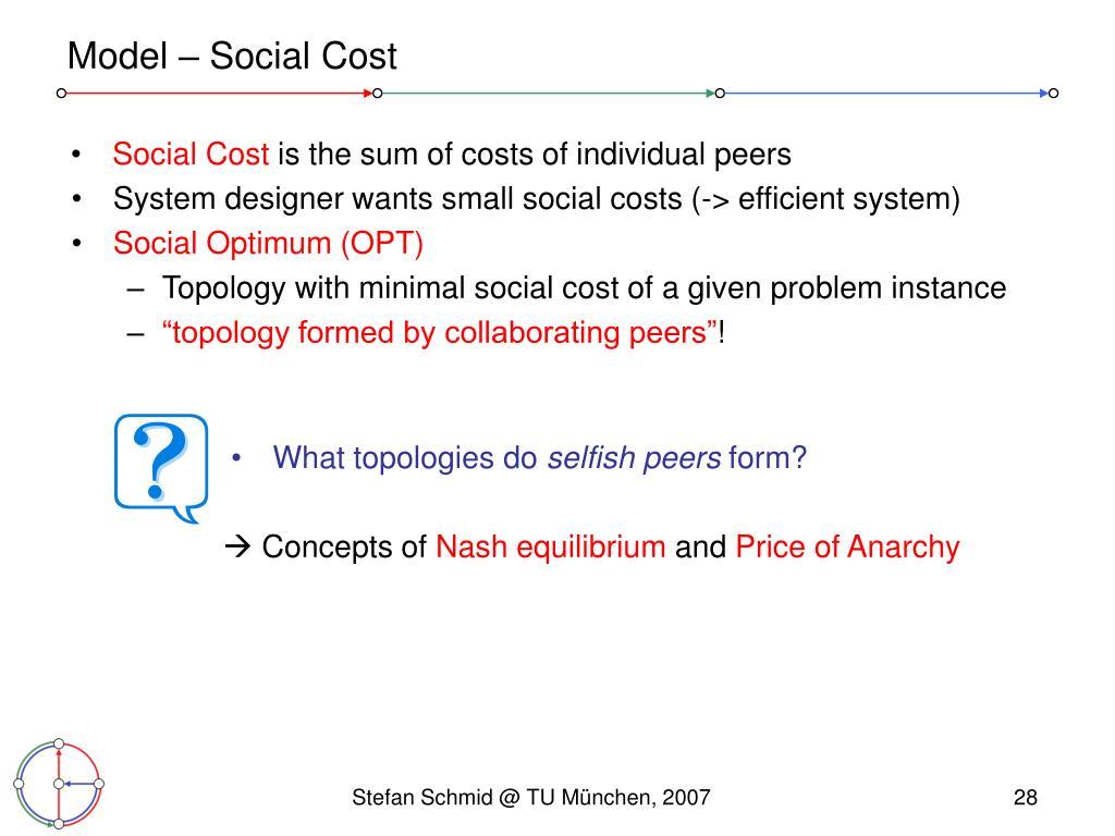 Model – Social Cost