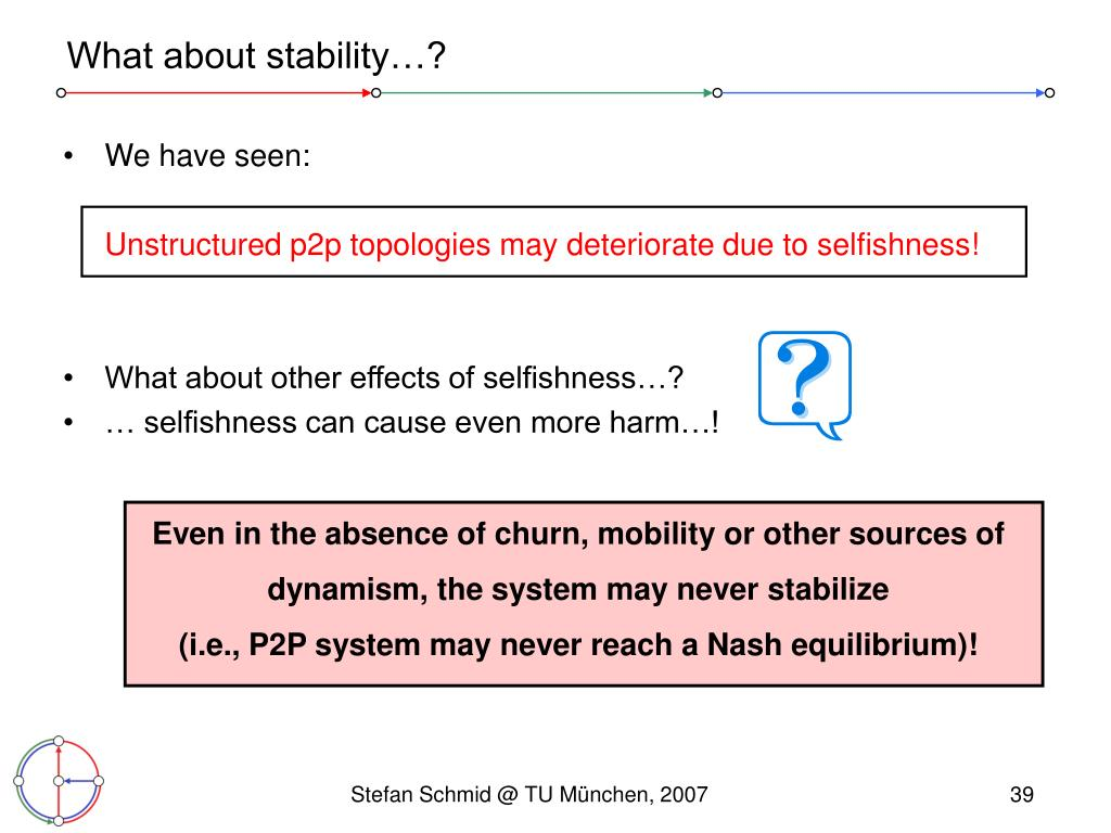 Even in the absence of churn, mobility or other sources of