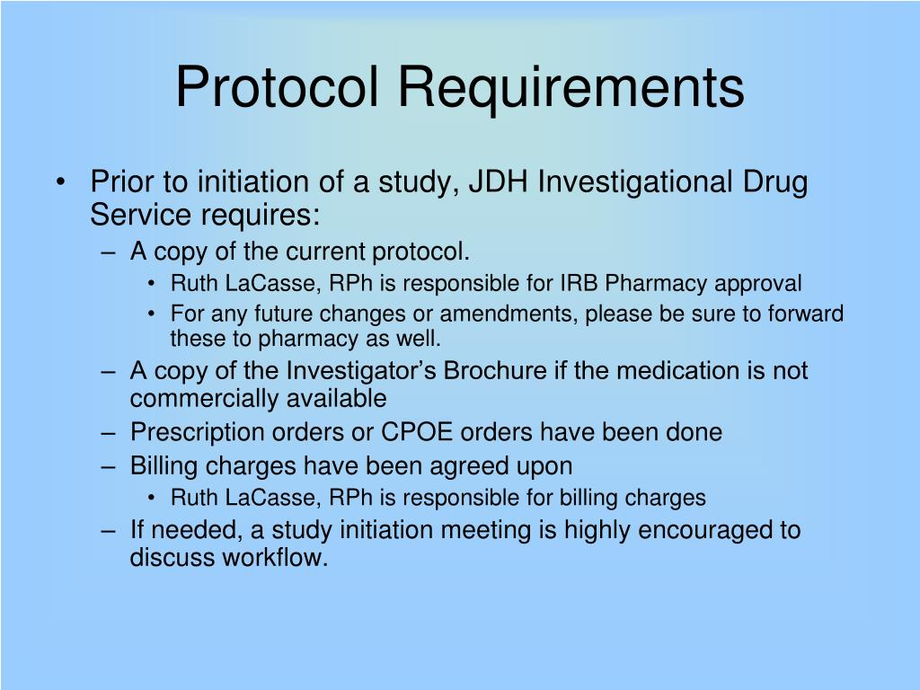 Protocol Requirements