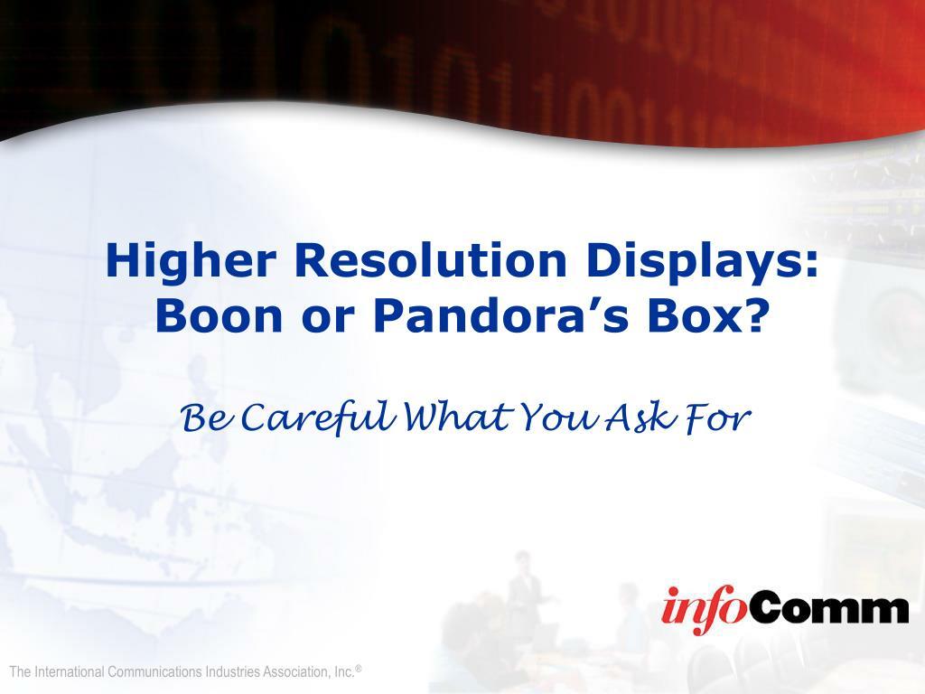 Higher Resolution Displays: