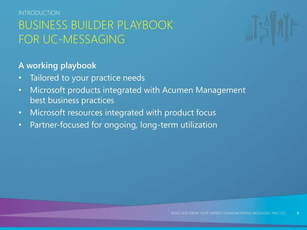 Business Builder Playbook