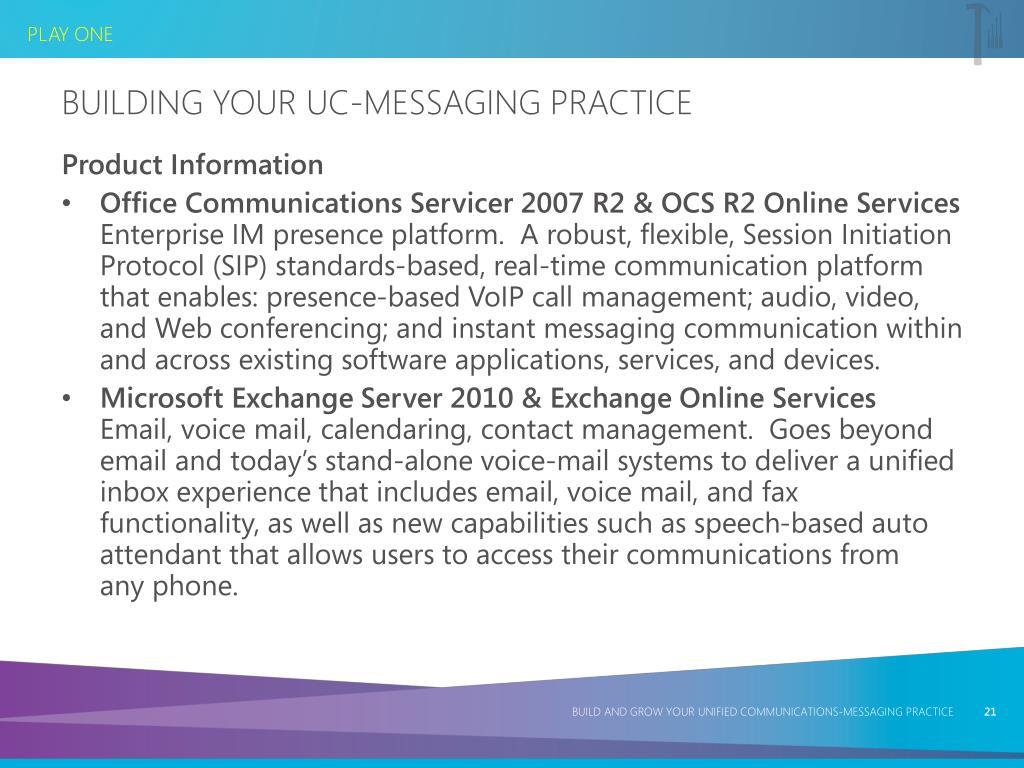 Building Your UC-Messaging Practice
