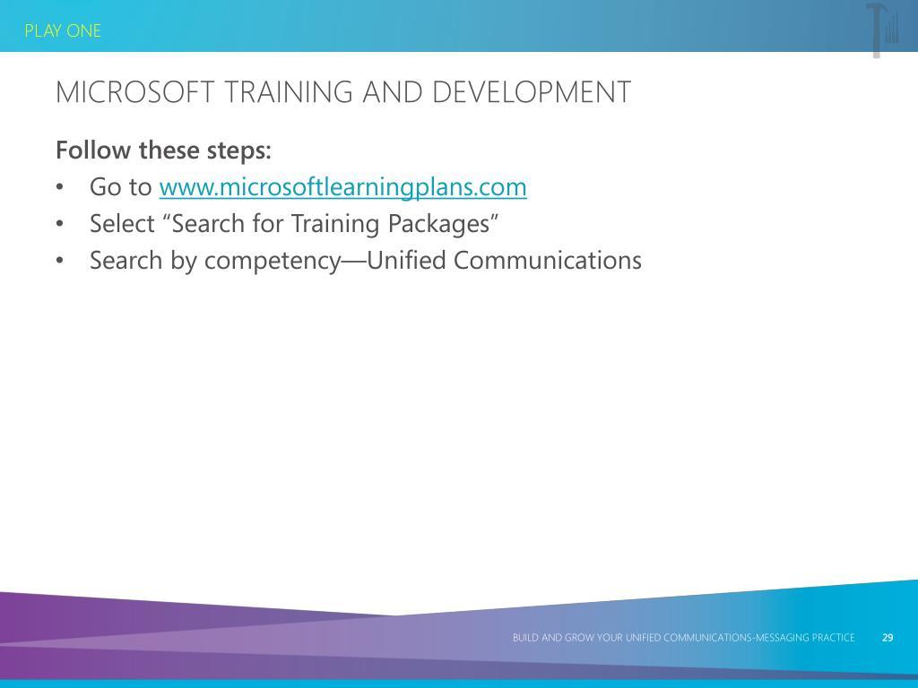 Microsoft Training and Development