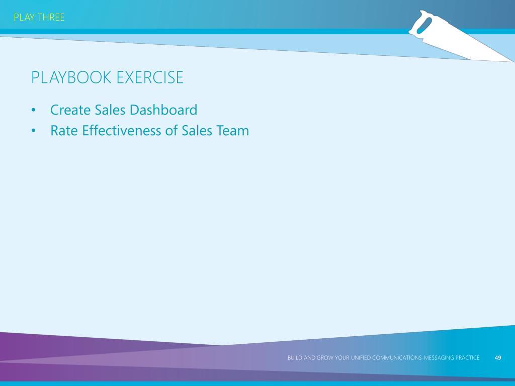 Create Sales Dashboard