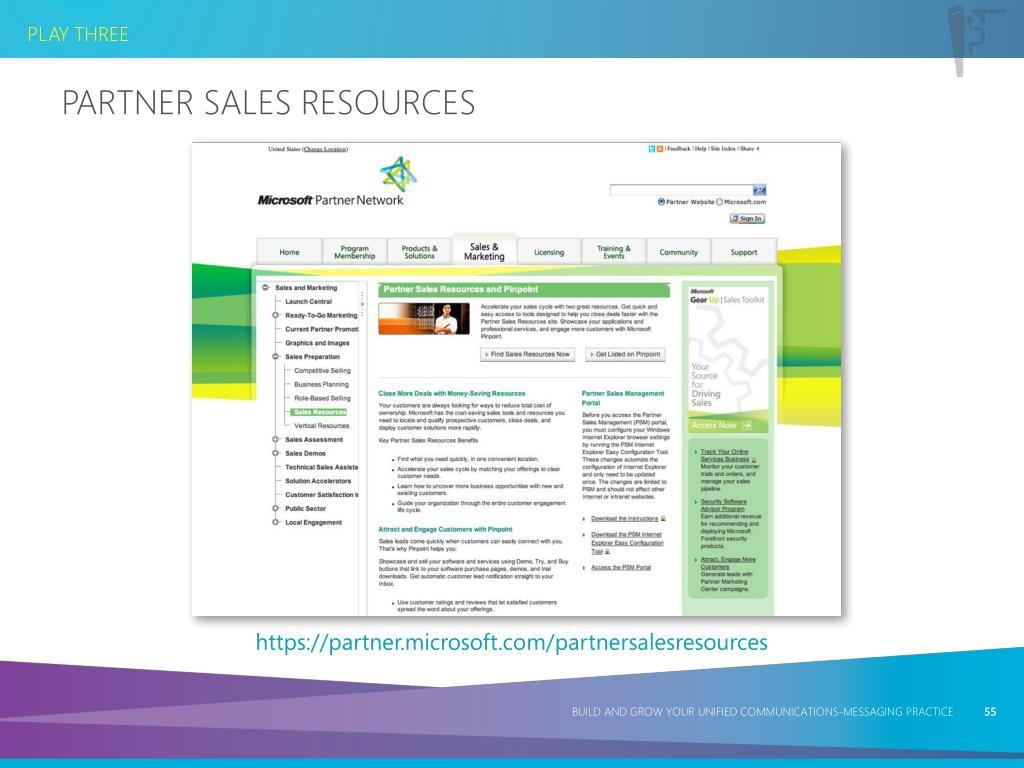 Partner Sales Resources