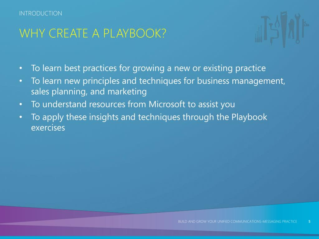 Why Create a Playbook?