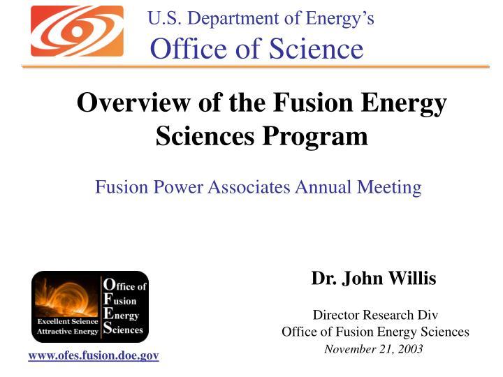 U.S. Department of Energy's