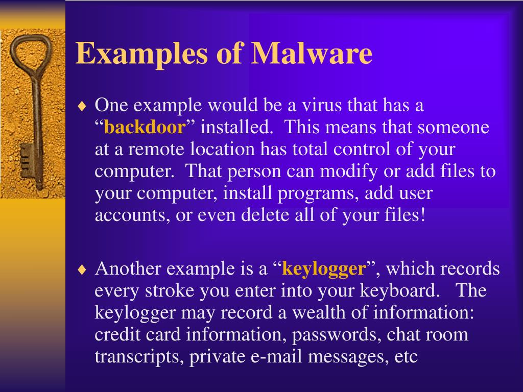 Examples of Malware