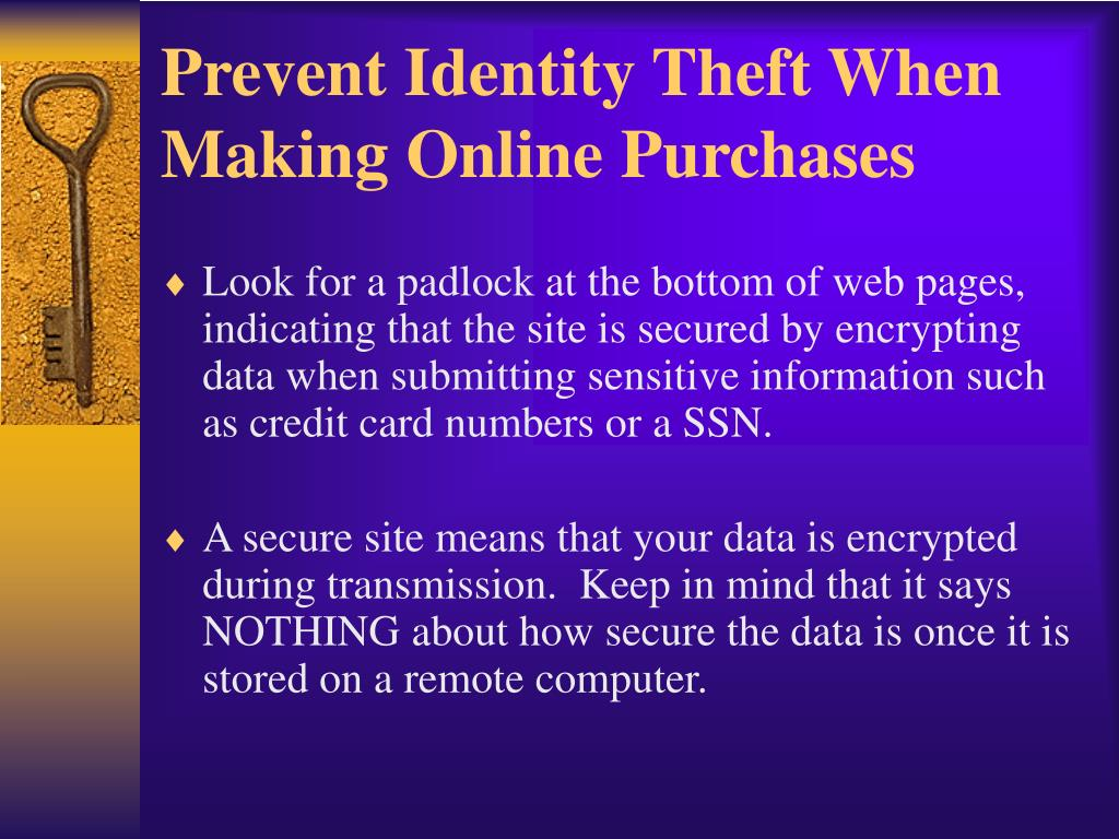 Prevent Identity Theft When Making Online Purchases