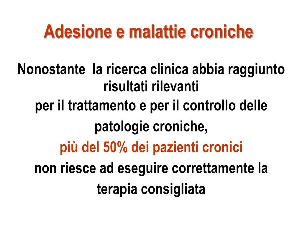 Adesione e malattie croniche