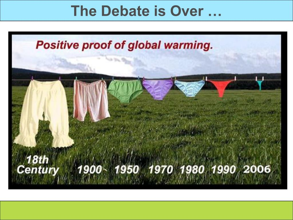 The Debate is Over …