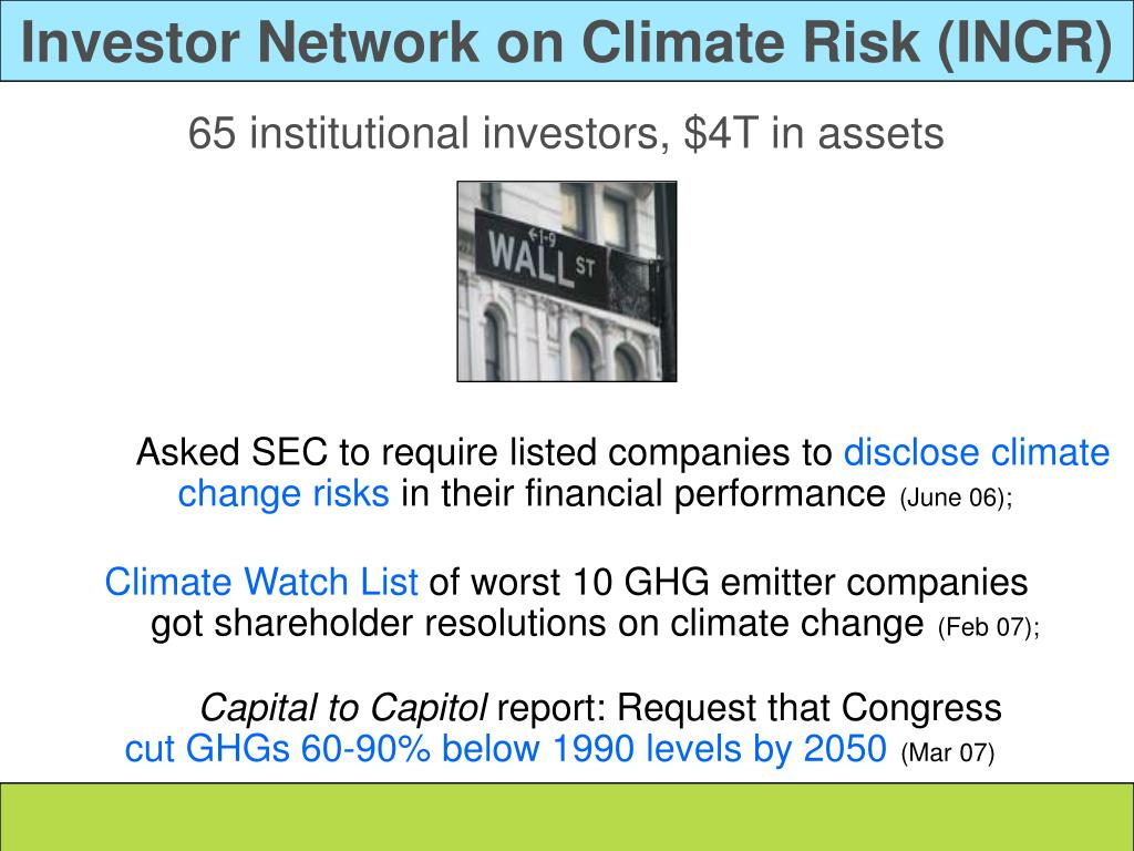 Investor Network on Climate Risk (INCR)