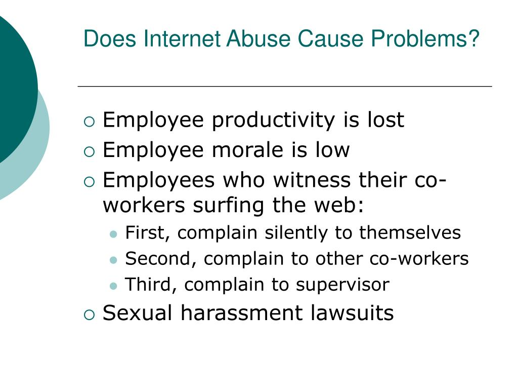 Does Internet Abuse Cause Problems?