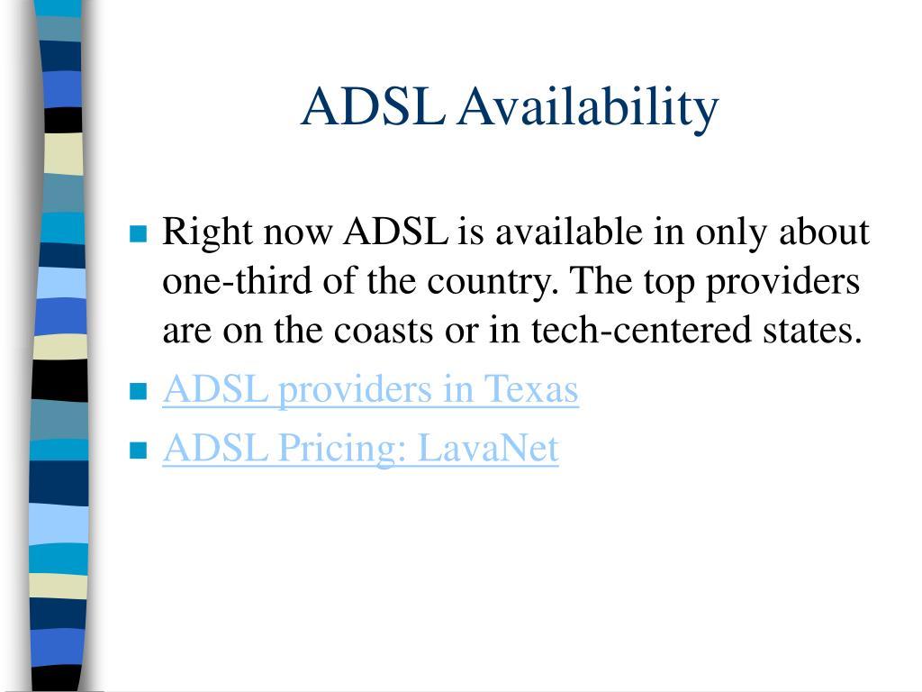 ADSL Availability