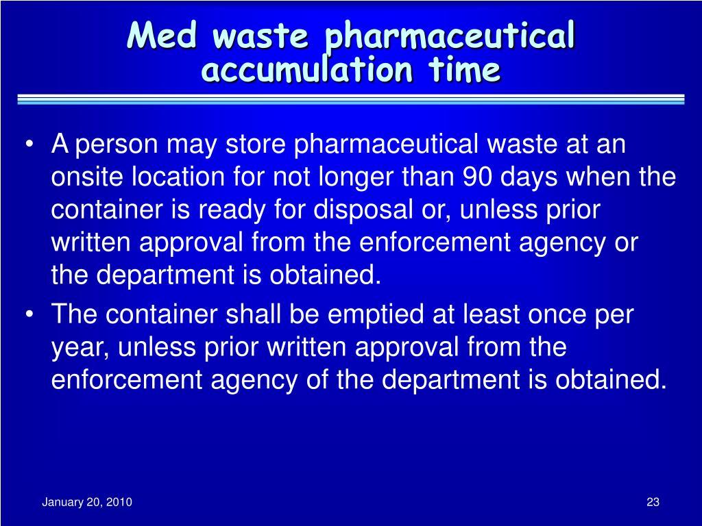 Med waste pharmaceutical