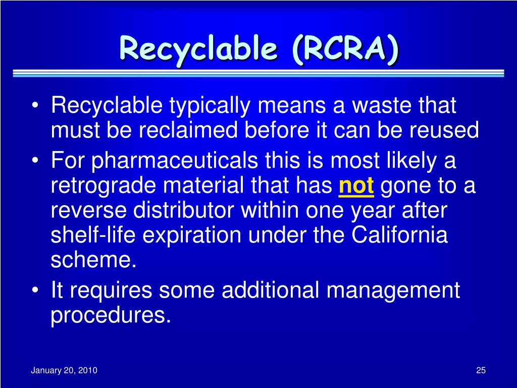 Recyclable (RCRA)