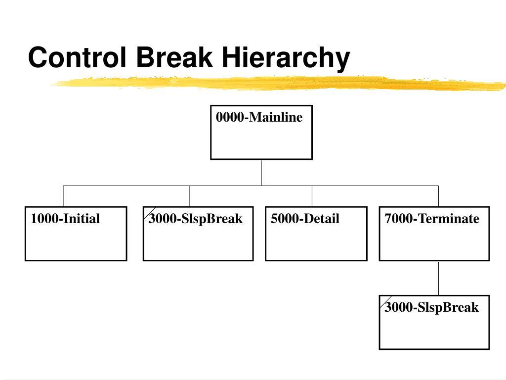 Control Break Hierarchy