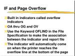 if and page overflow