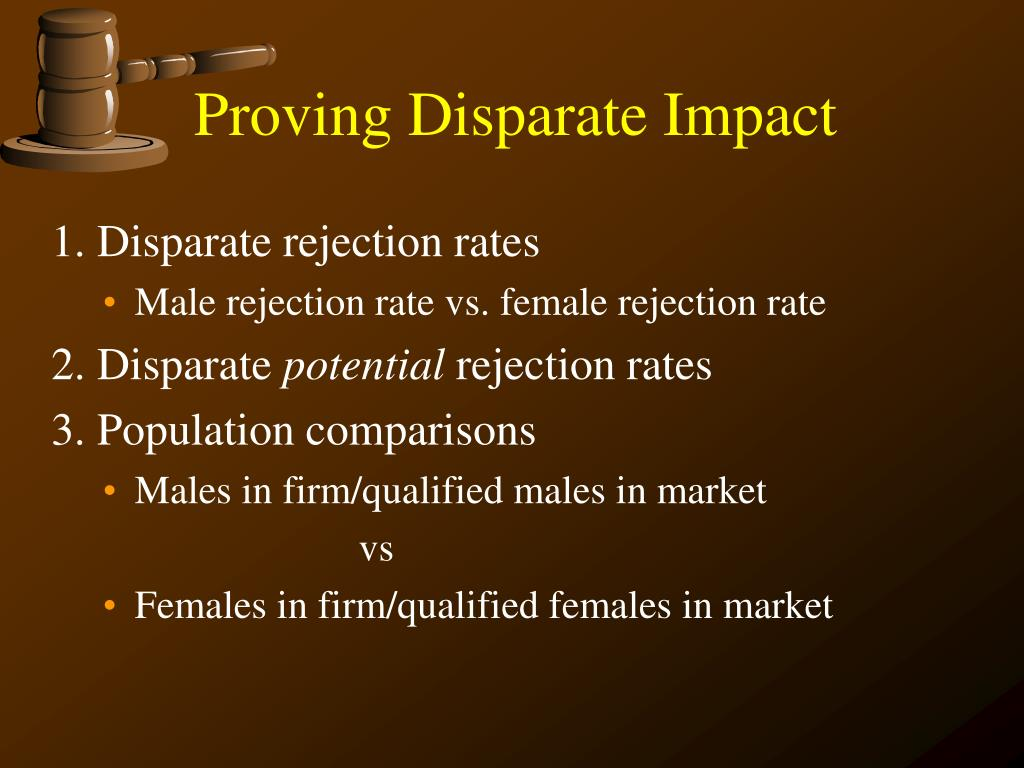 Proving Disparate Impact