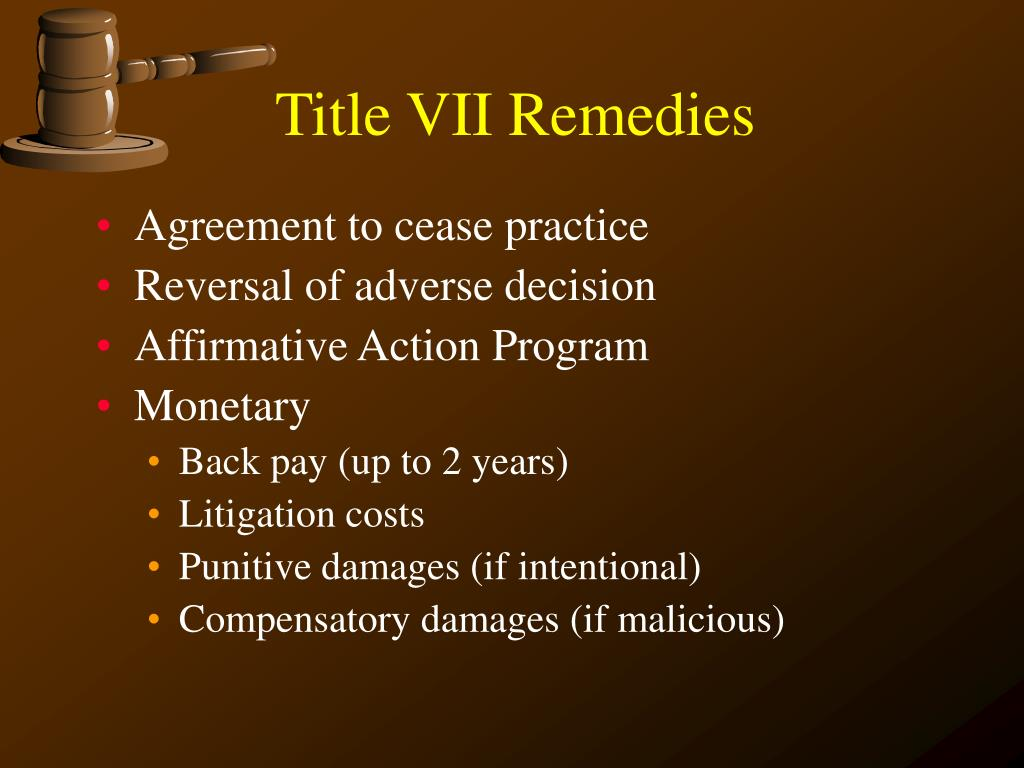 Title VII Remedies