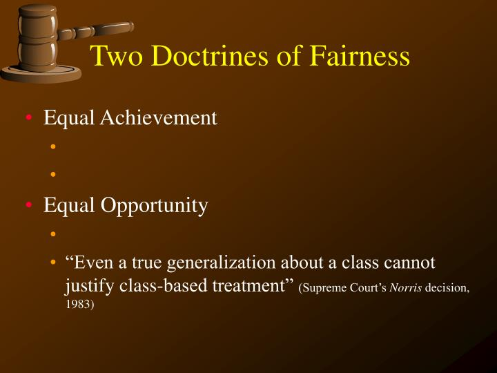 Two doctrines of fairness