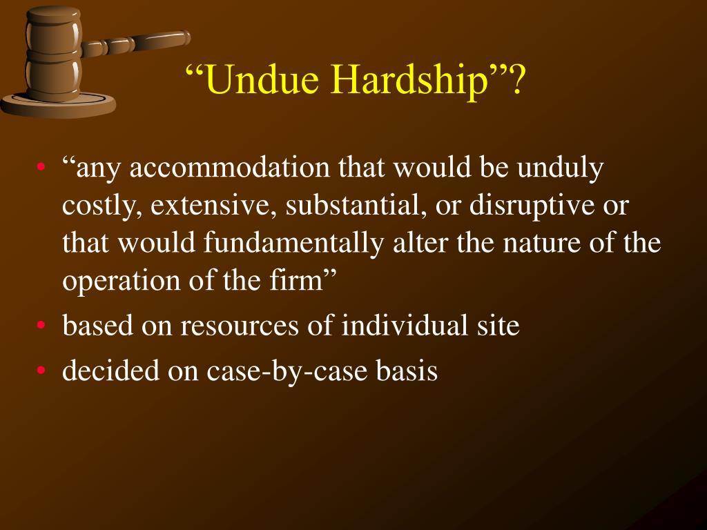 """Undue Hardship""?"