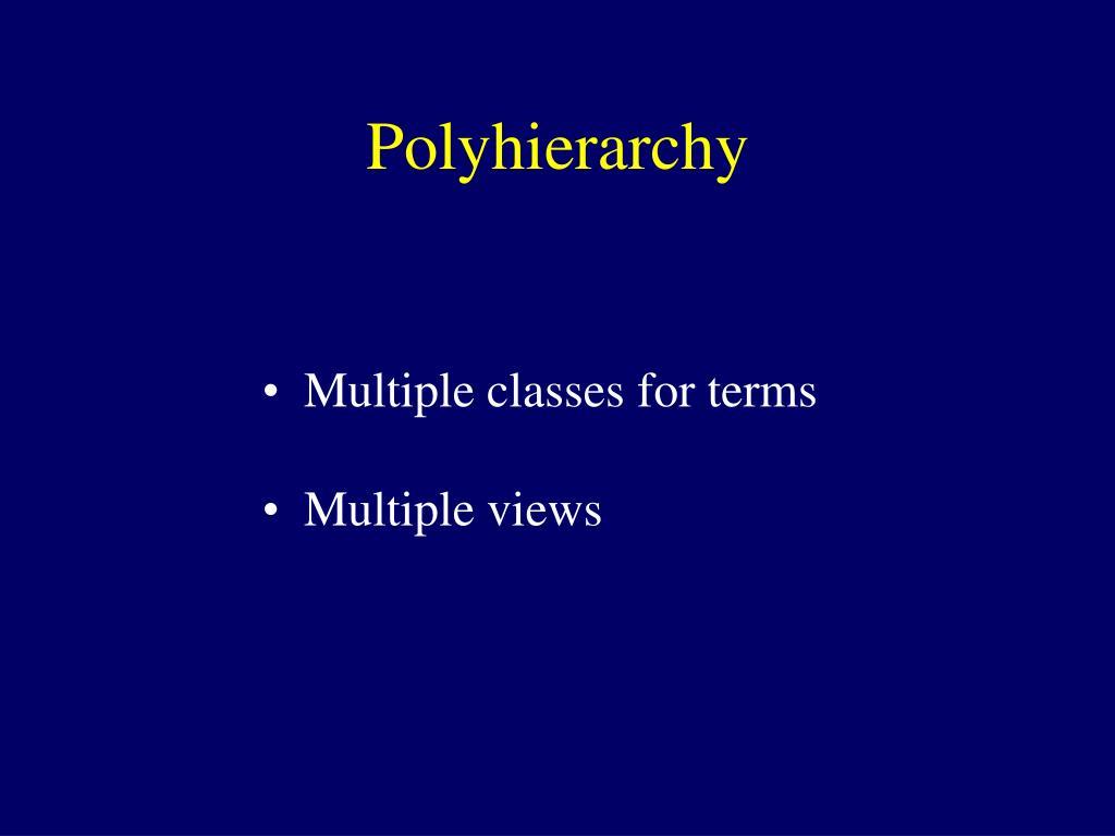 Polyhierarchy