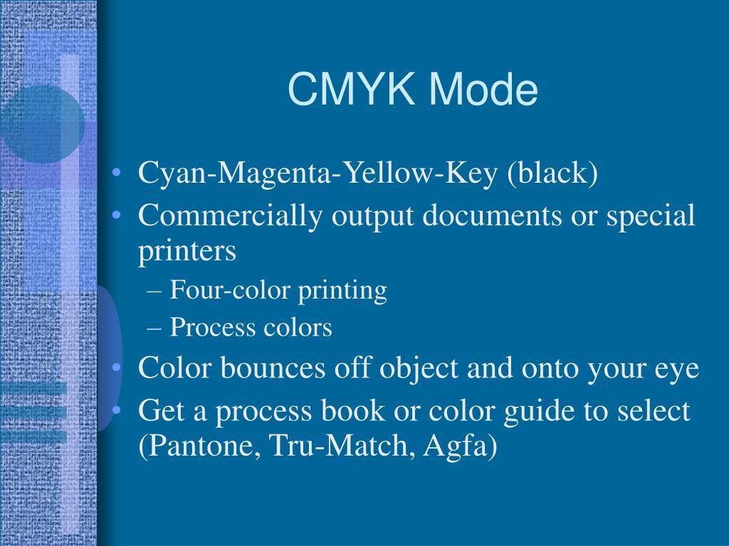 CMYK Mode