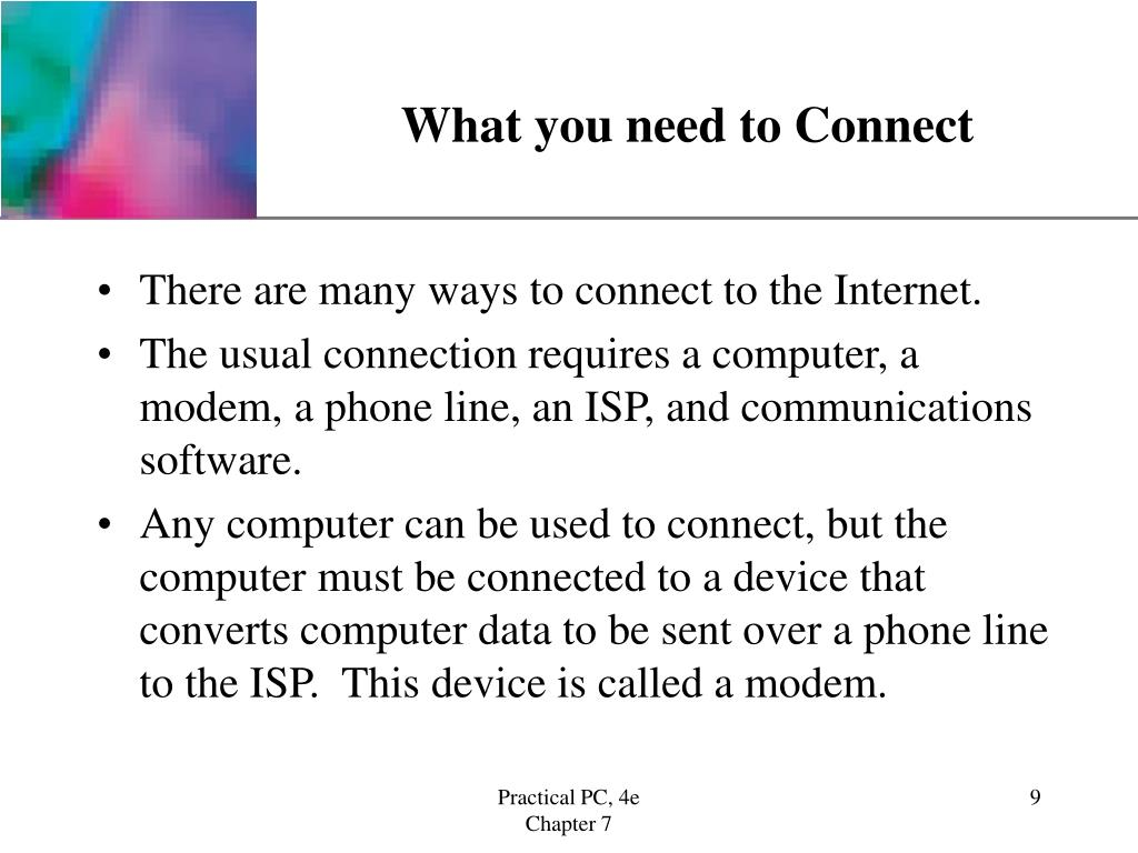 What you need to Connect