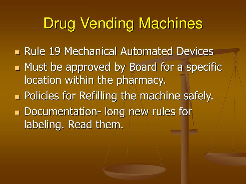 Drug Vending Machines