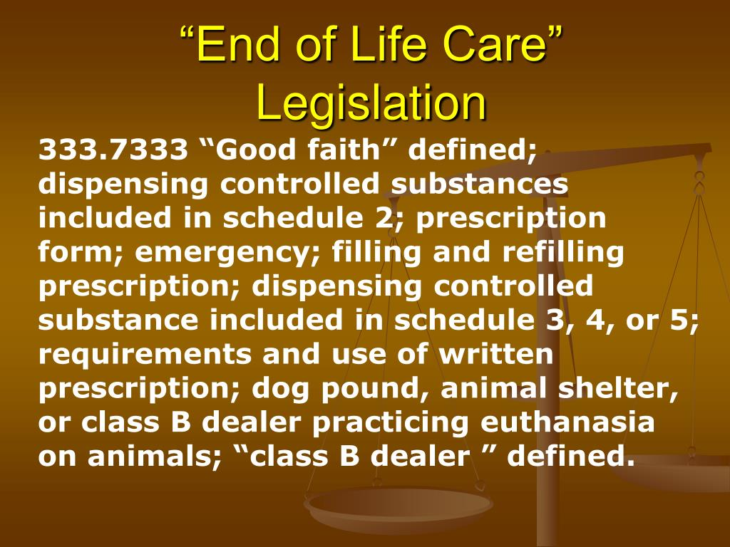 """End of Life Care"""