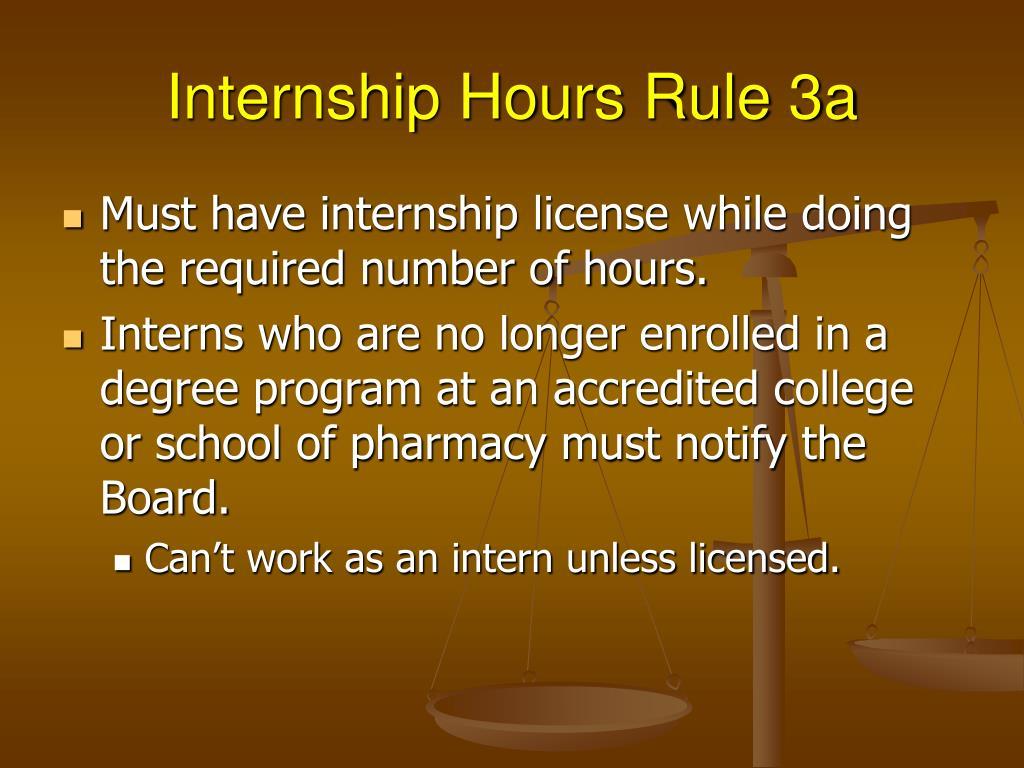 Internship Hours Rule 3a