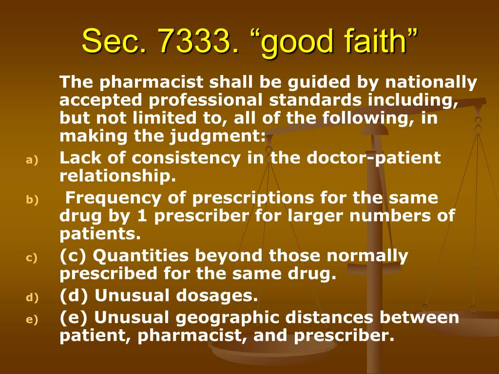 "Sec. 7333. ""good faith"""